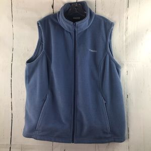 Columbia periwinkle fleece vest